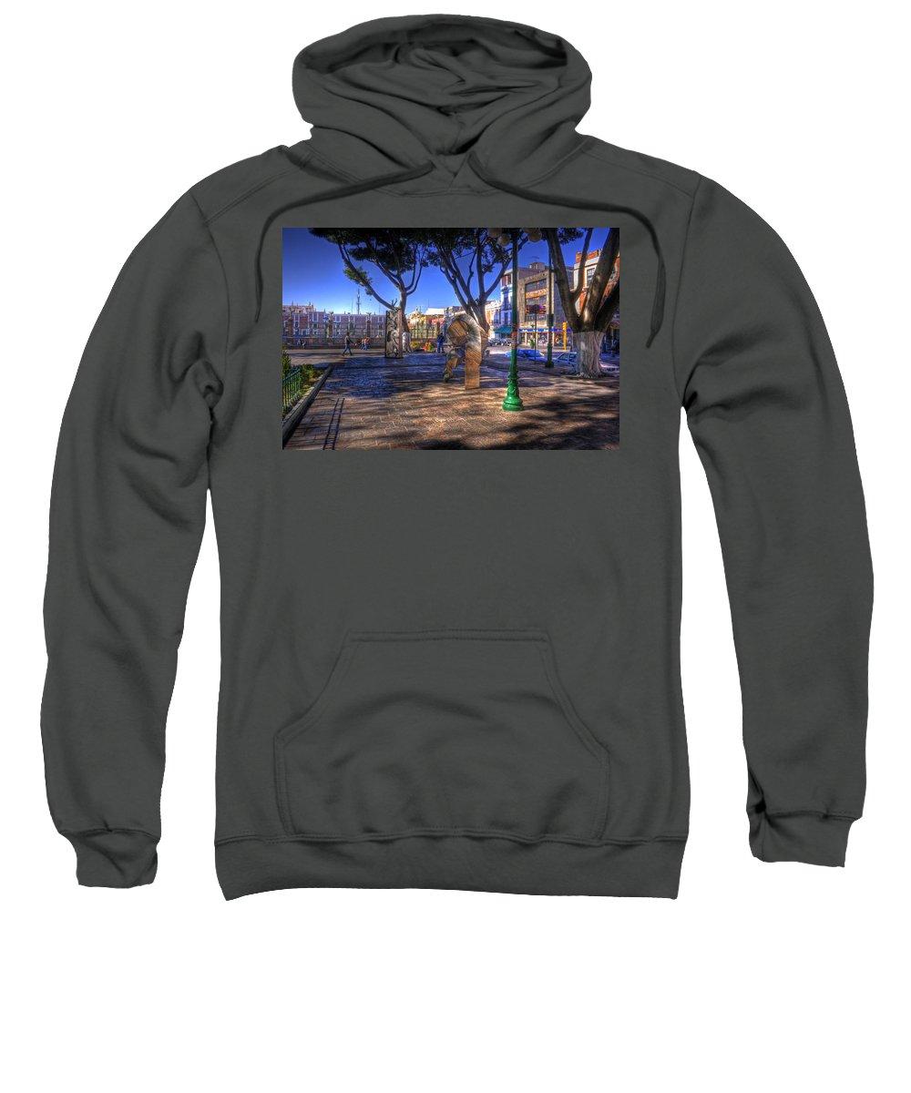 Puebla Sweatshirt featuring the photograph Puebla Mexico by Lee Santa