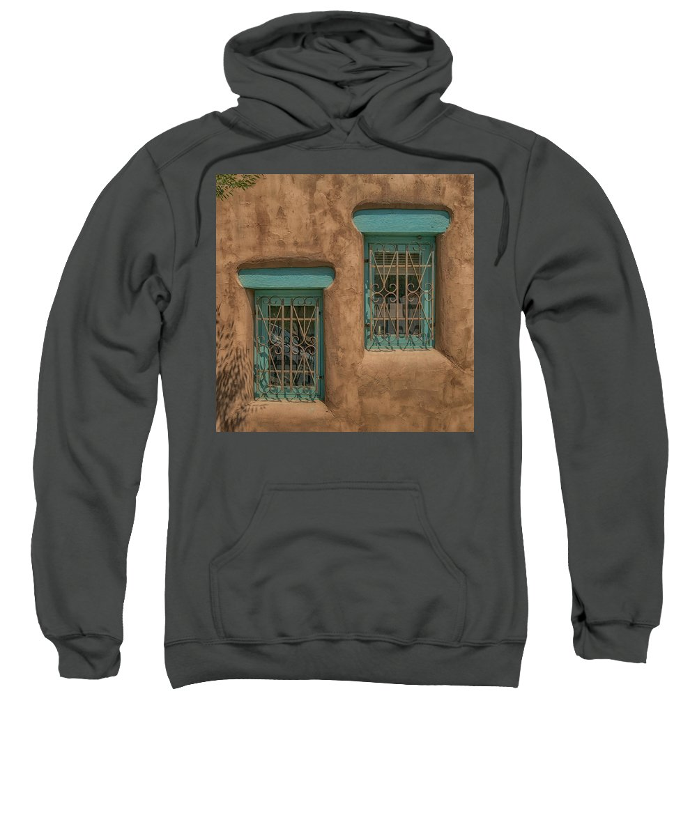 Pueblo Sweatshirt featuring the photograph Pueblo Windows Nm Square Img_8336 by Greg Kluempers