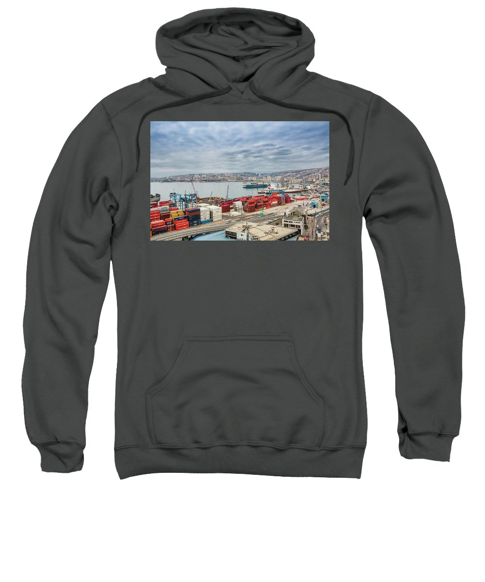 Valparaiso Sweatshirt featuring the photograph Puerto De Valparaiso by Robert Barsby