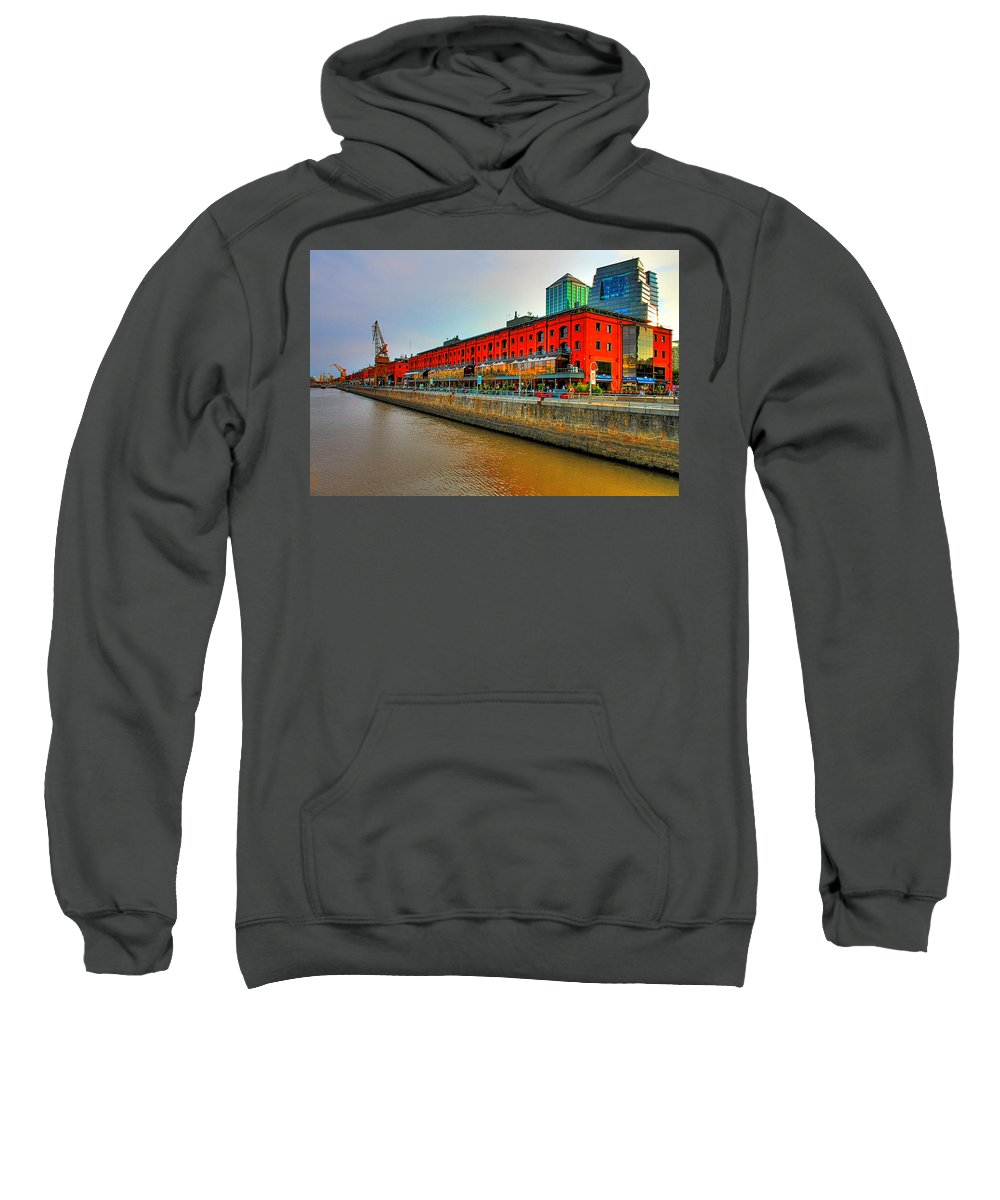 Buenos Sweatshirt featuring the photograph Puerto Madero - Buenos Aires by Francisco Colon