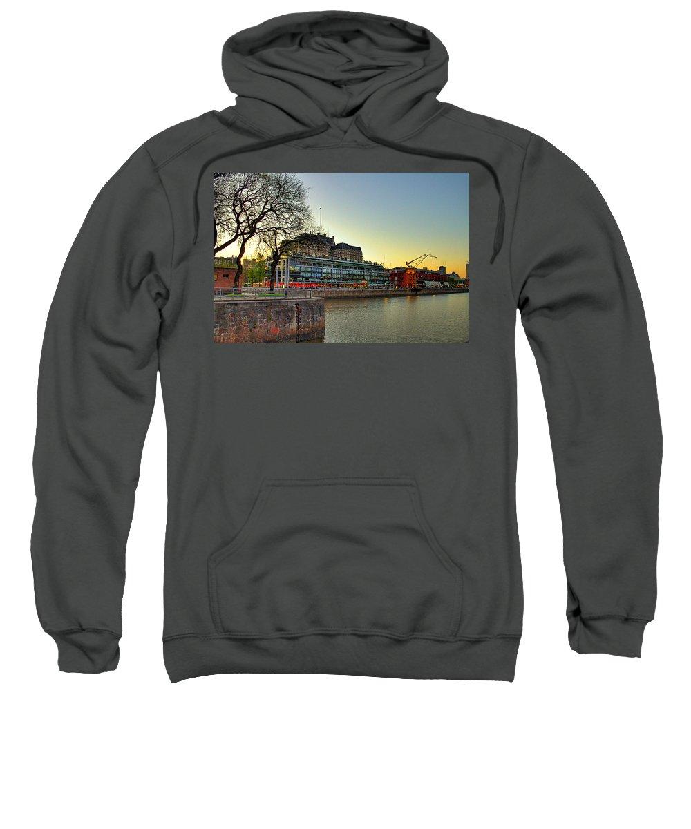 Buenos Sweatshirt featuring the photograph Puerto Madero Entrance by Francisco Colon