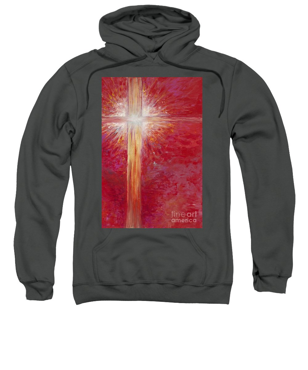 Light Sweatshirt featuring the painting Pure Light by Nadine Rippelmeyer
