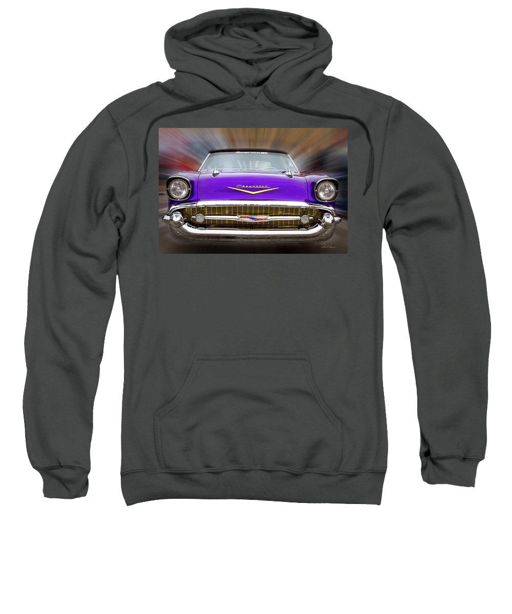 Photography Sweatshirt featuring the photograph Purple Chevy by Frederic A Reinecke