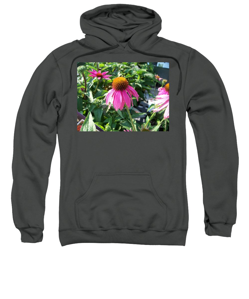 Floral Sweatshirt featuring the photograph Purple Flower by Eric Schiabor