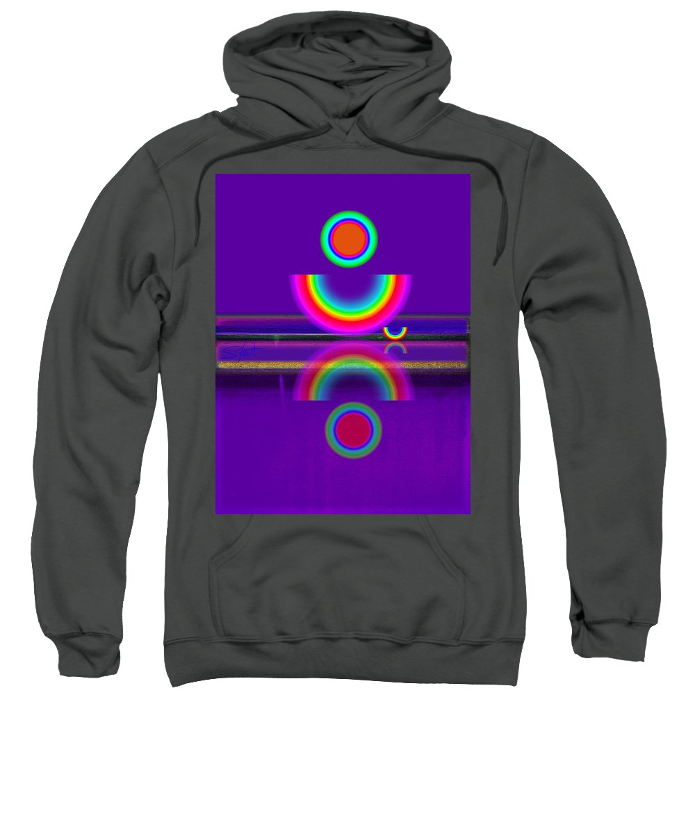 Reflections Sweatshirt featuring the painting Purple Moon by Charles Stuart