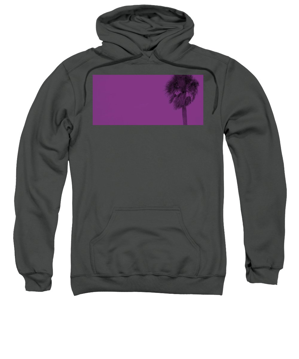 Florida Sweatshirt featuring the photograph Purple Palm by Ed Smith