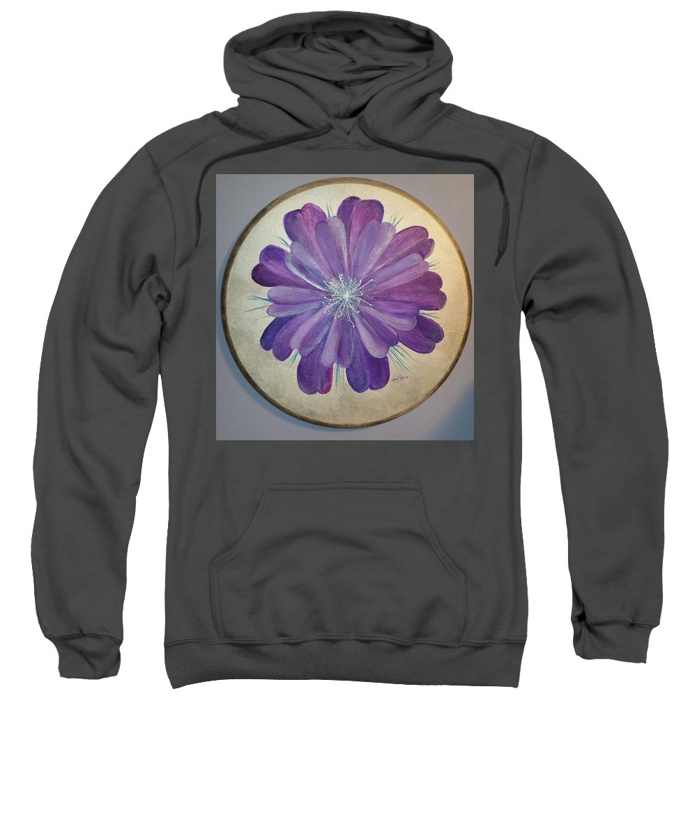 Sweatshirt featuring the painting Purple Paradise by Jan Marie