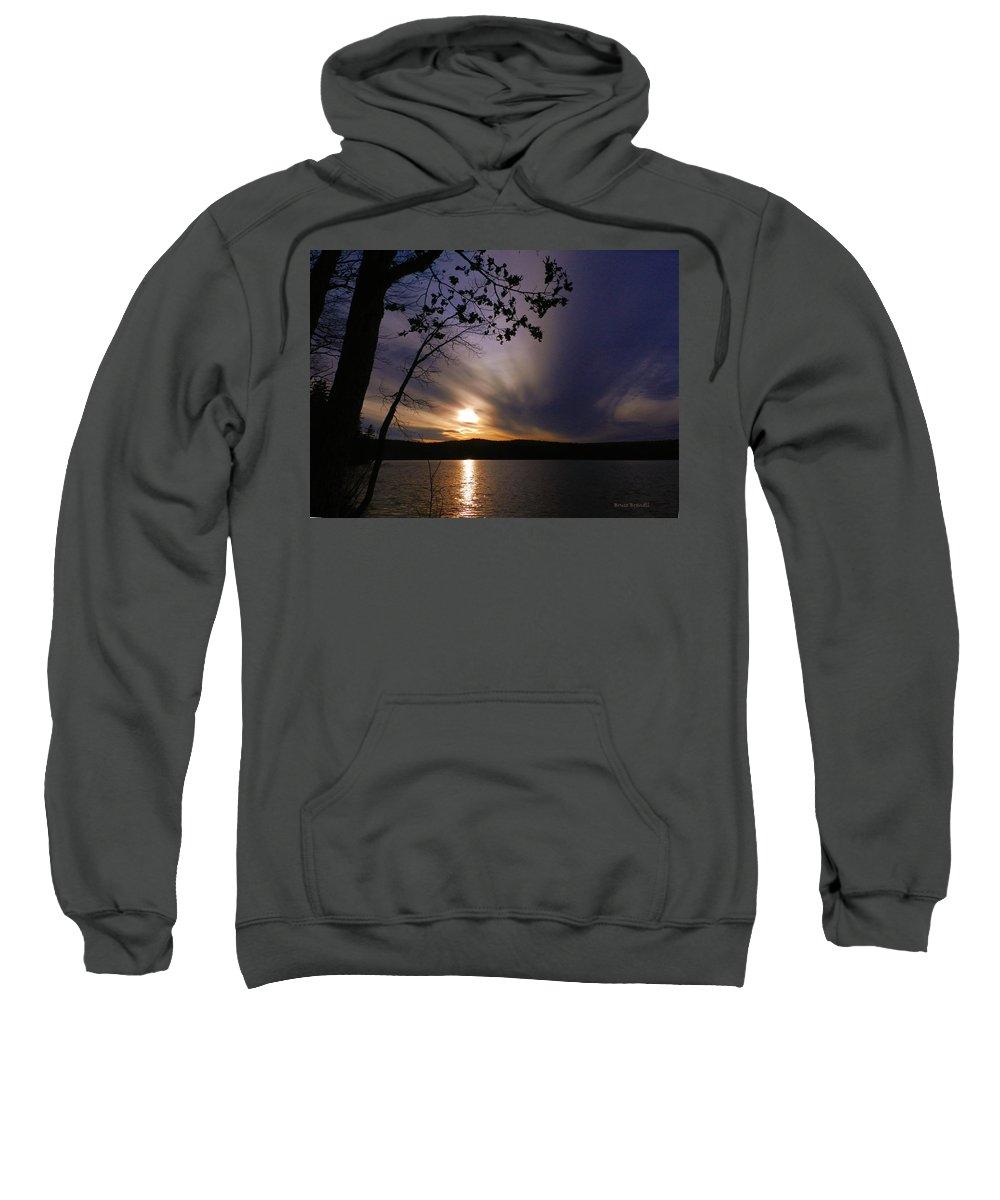 New Hampshire Sweatshirt featuring the photograph Purple Sunset by Bruce Brandli