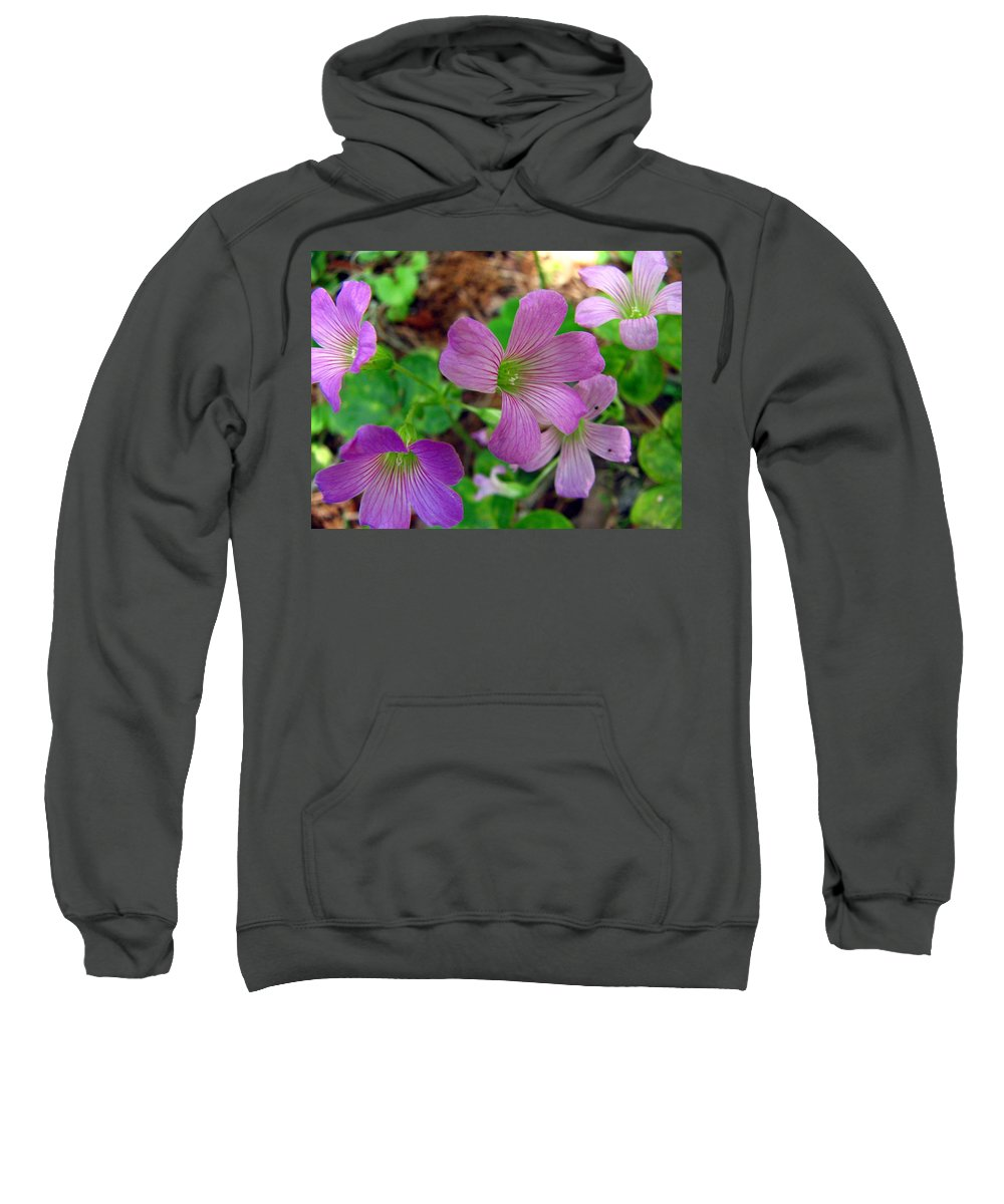 Wildflowers Sweatshirt featuring the photograph Purple Wildflowers Macro 3 by J M Farris Photography