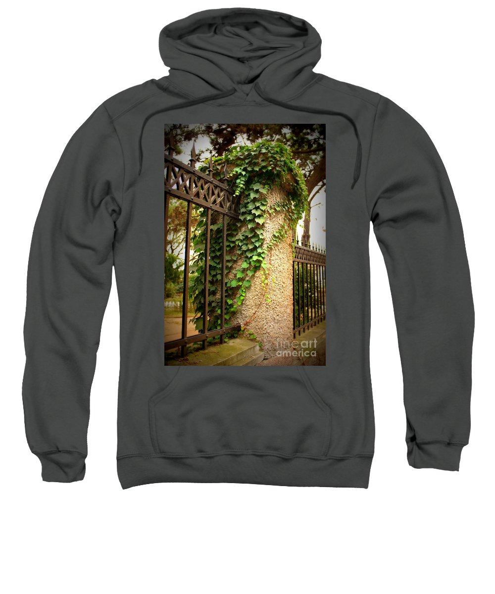 Rod Iron Fence Sweatshirt featuring the photograph Qingdao Castle Garden by Carol Groenen