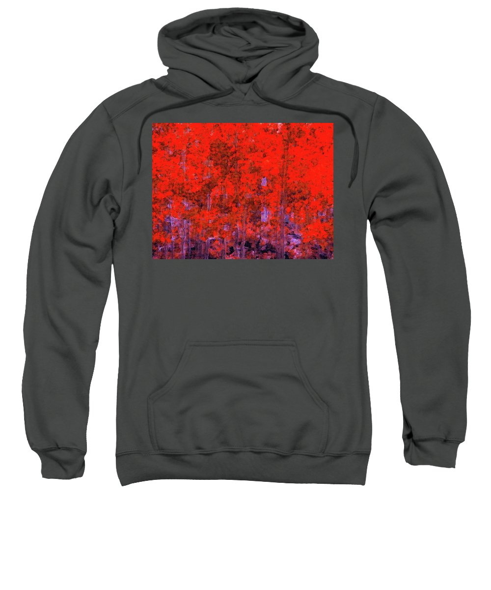 Sweatshirt featuring the digital art Quakies by Thomas Conway