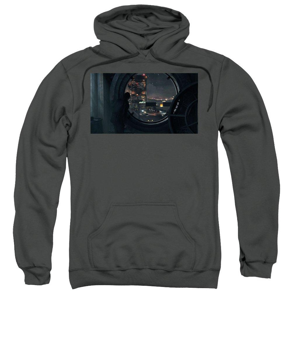 Quantum Break Sweatshirt featuring the digital art Quantum Break by Bert Mailer
