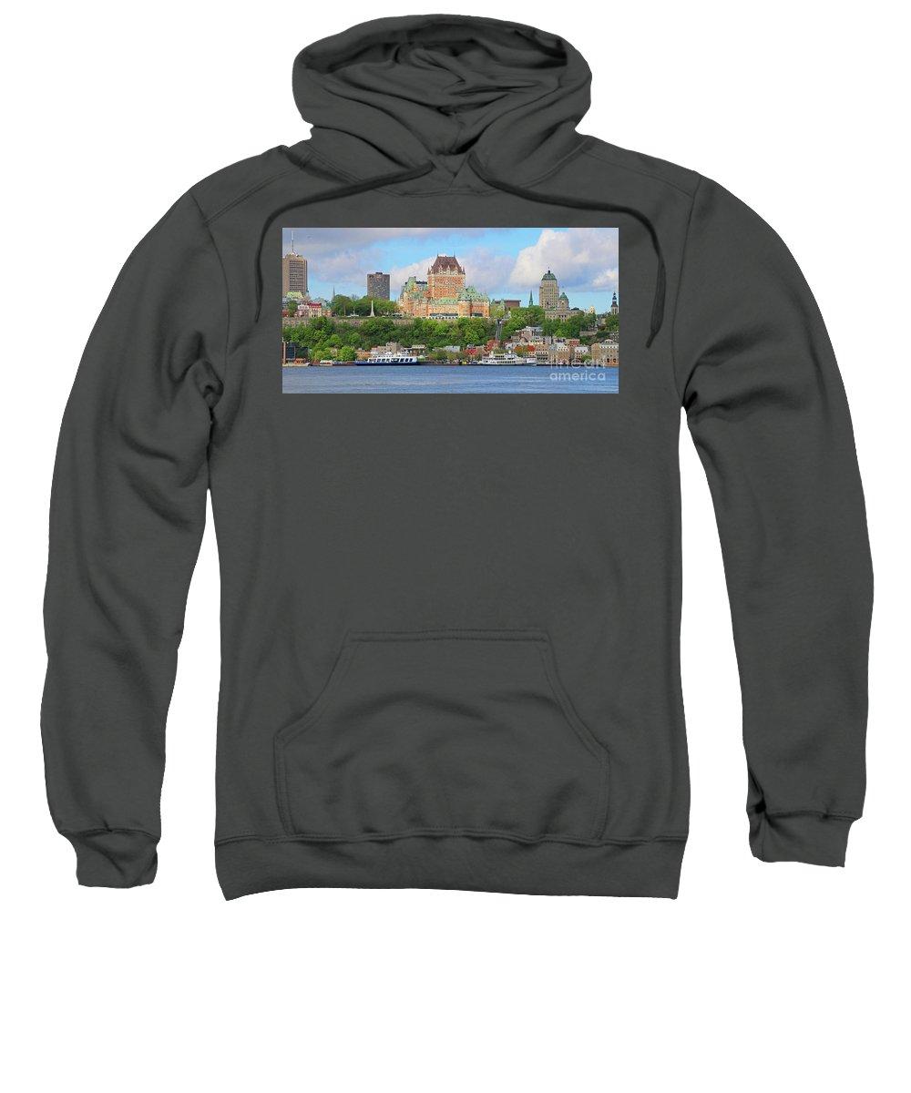 Quebec City Sweatshirt featuring the photograph Quebec City 6326 B by Jack Schultz