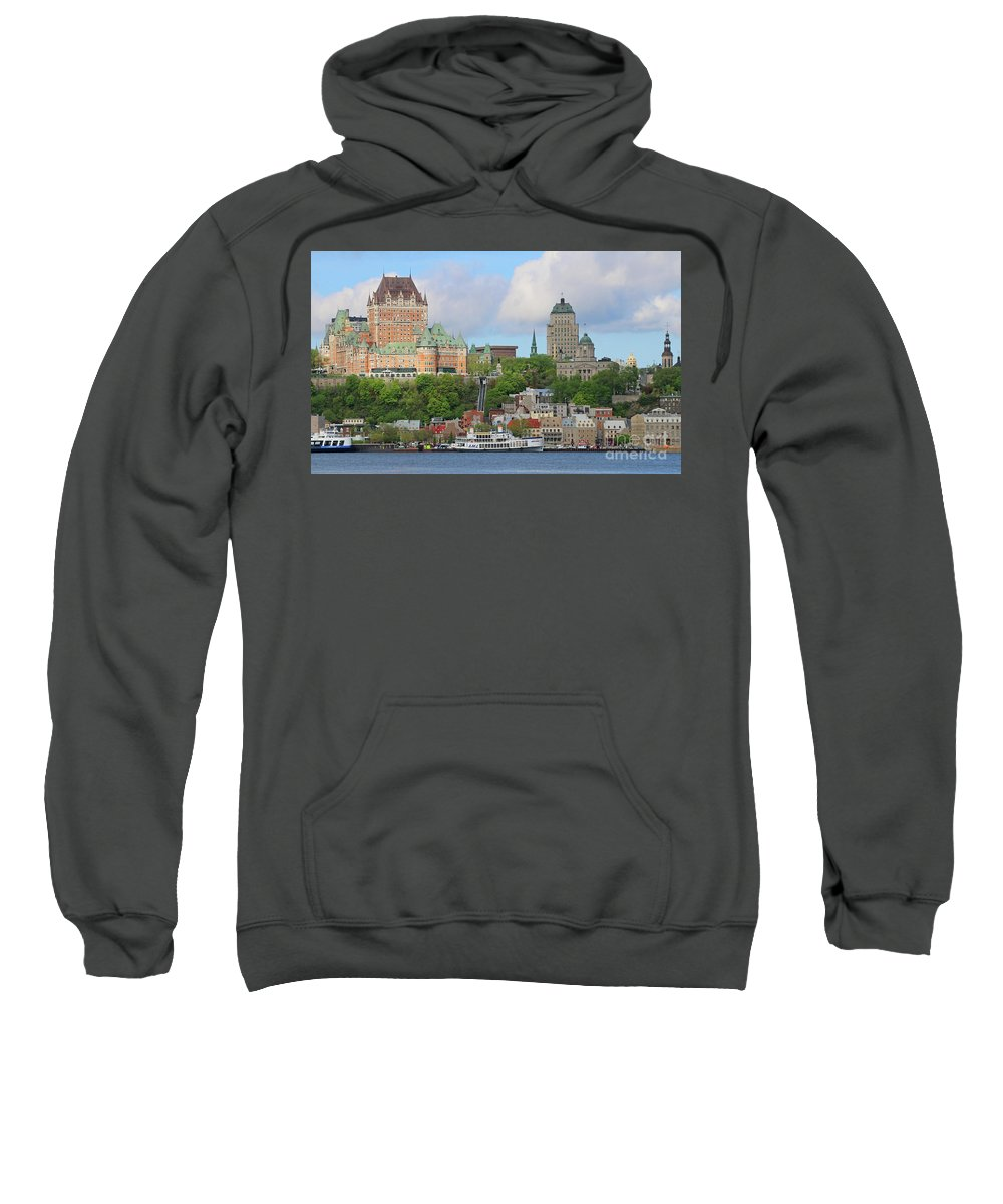 Quebec City Sweatshirt featuring the photograph Quebec City 6326 by Jack Schultz