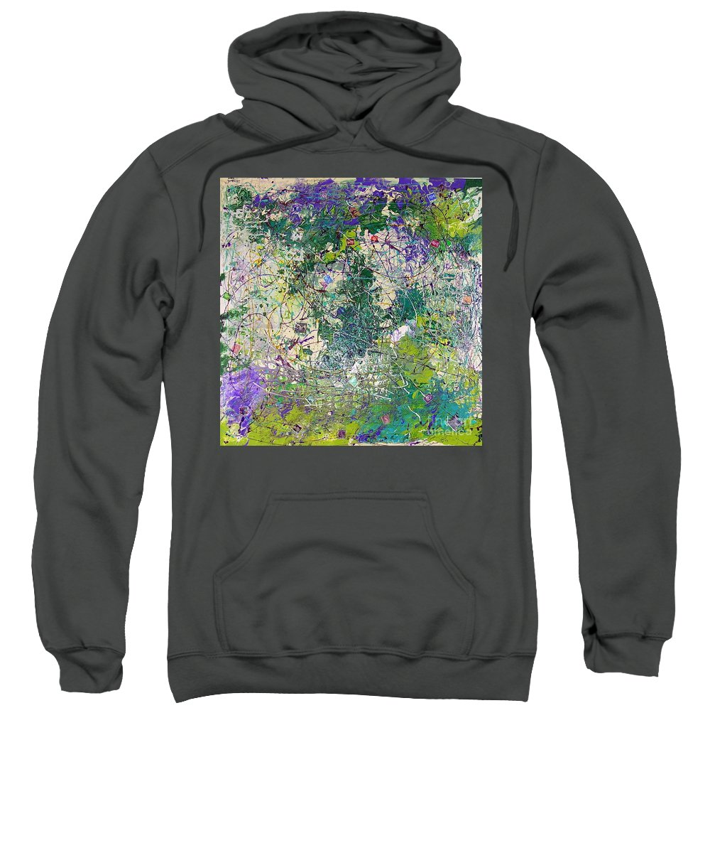 Queen Mother Sweatshirt featuring the painting Queen Mother by Dawn Hough Sebaugh
