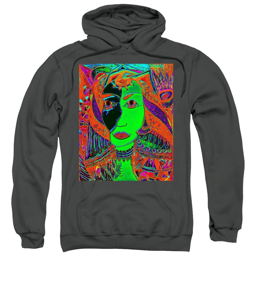 Queen Of The Nile Sweatshirt featuring the painting Queen Of The Nile by Natalie Holland