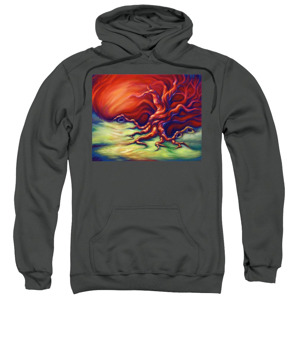 Oil Painting Sweatshirt featuring the painting Quiet Place by Jennifer McDuffie