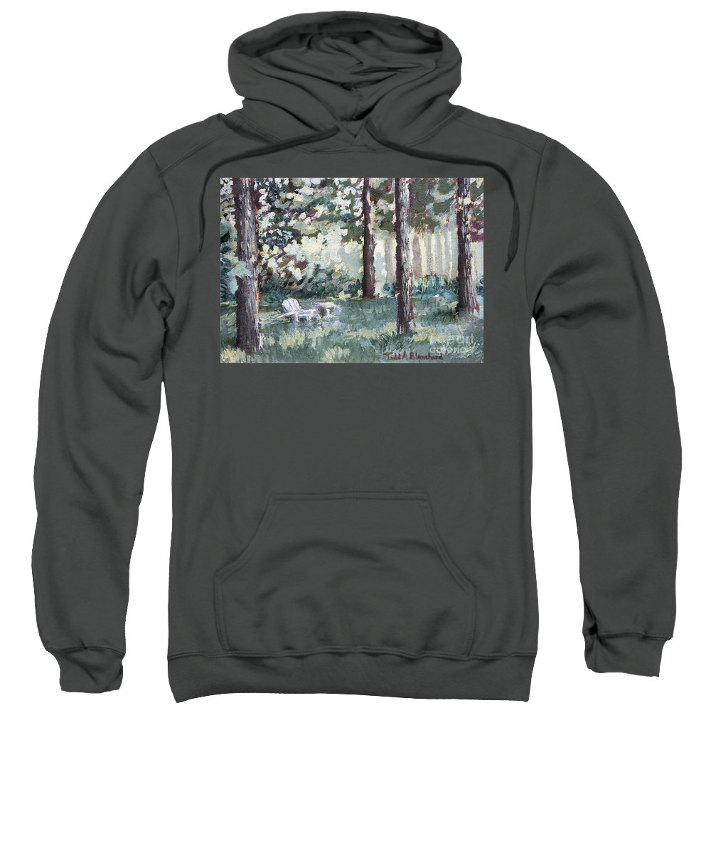Landscape Sweatshirt featuring the painting Quiet Place by Todd Blanchard