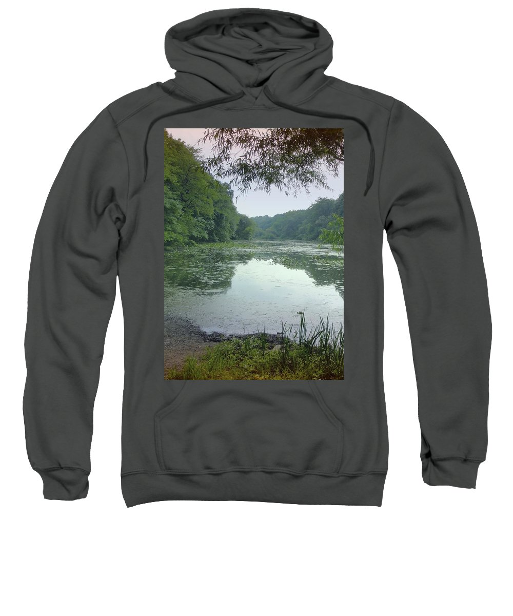 Lake Surprise Sweatshirt featuring the photograph Quiet Reflections by Jane Alexander