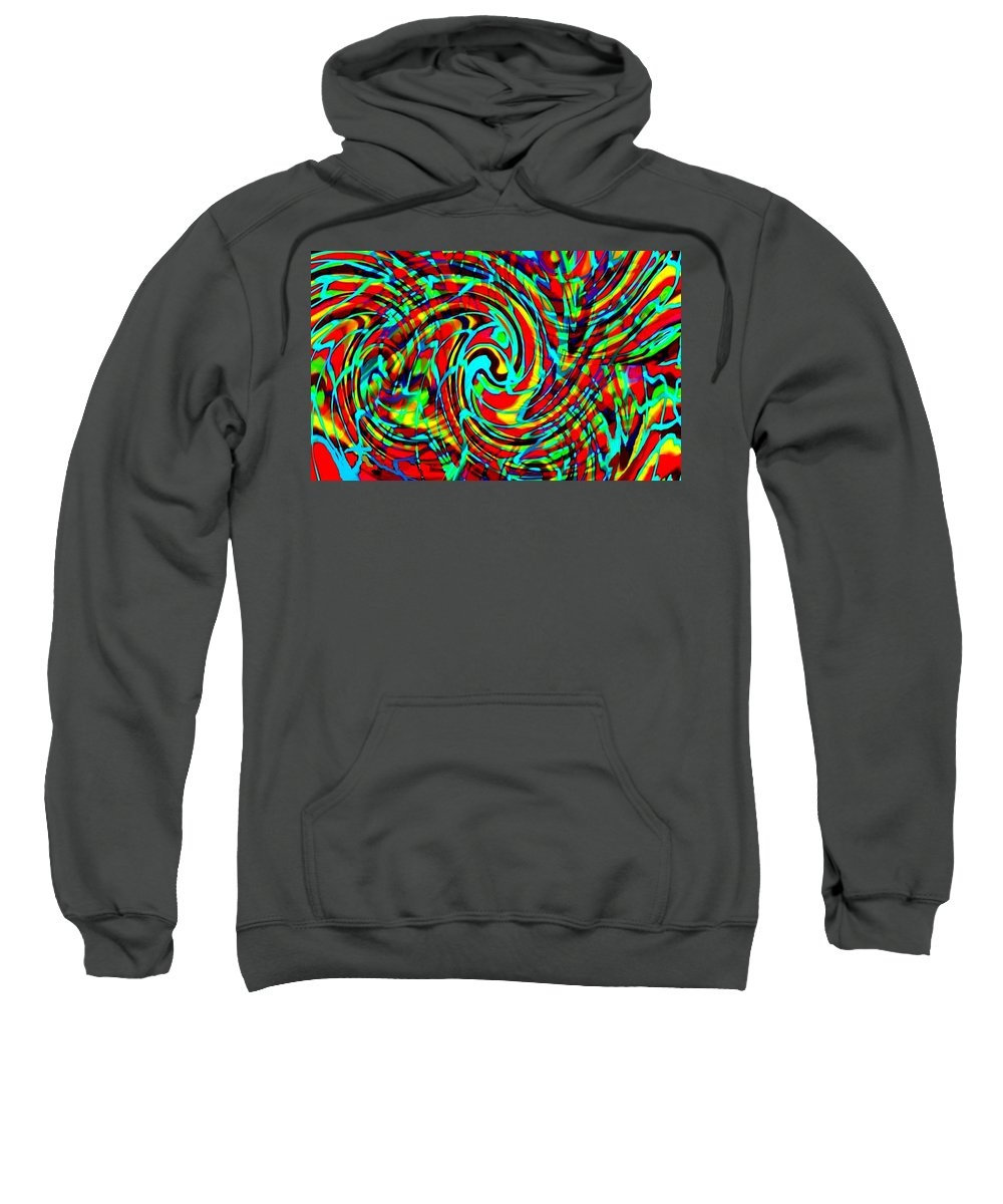 Announcement Sweatshirt featuring the painting Quintet For Coloured Paint Ab H B by Gert J Rheeders