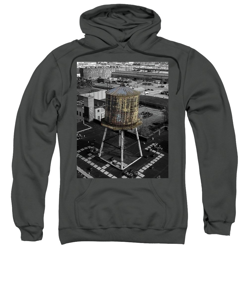 Water Tower Sweatshirt featuring the photograph Water Tower by Steve Bell