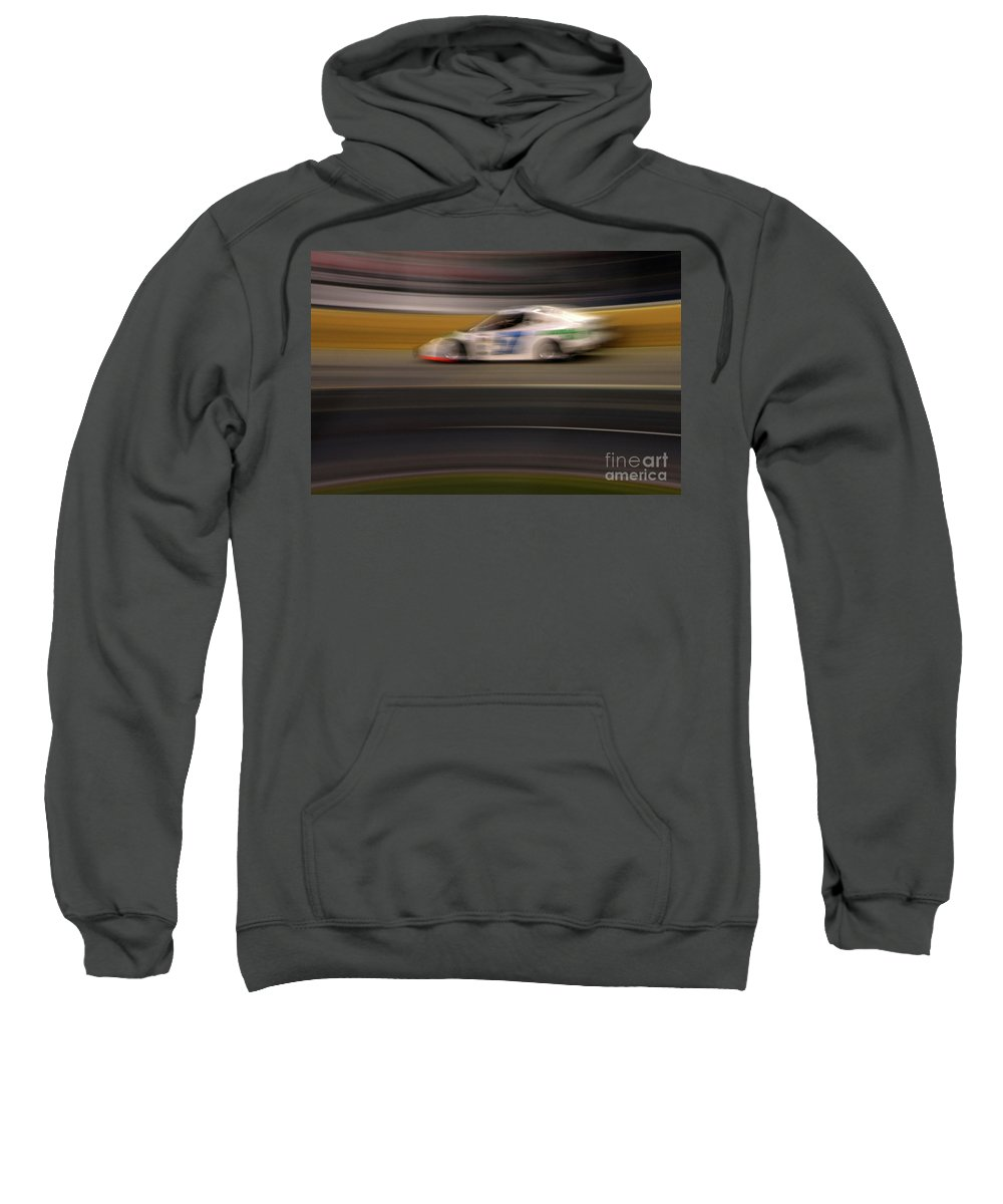 Racing Sweatshirt featuring the photograph Racing Blur by Karol Livote