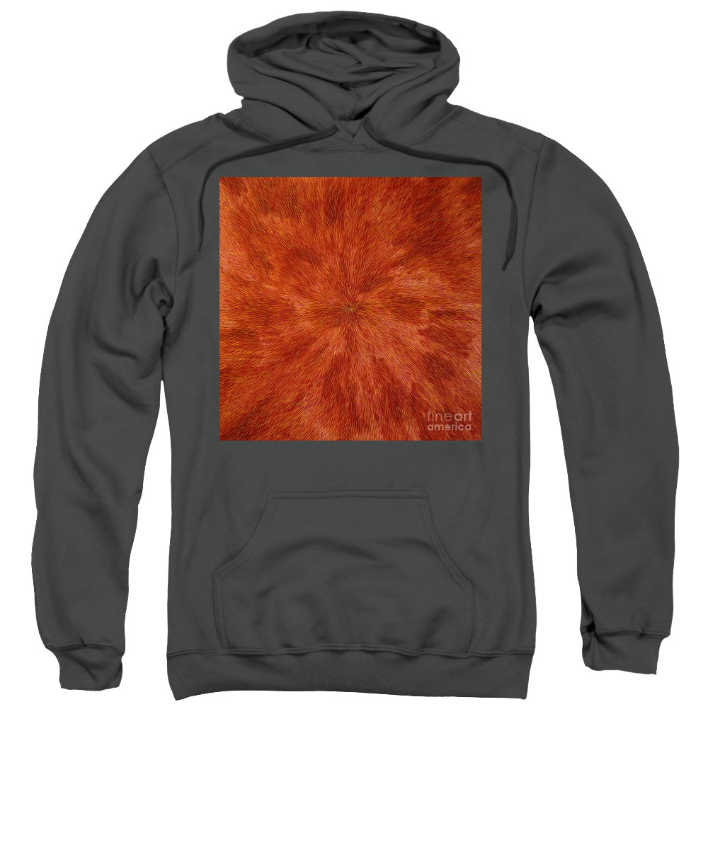 Abstract Sweatshirt featuring the painting Radiation With Brown Yellow And Voilet by Dean Triolo