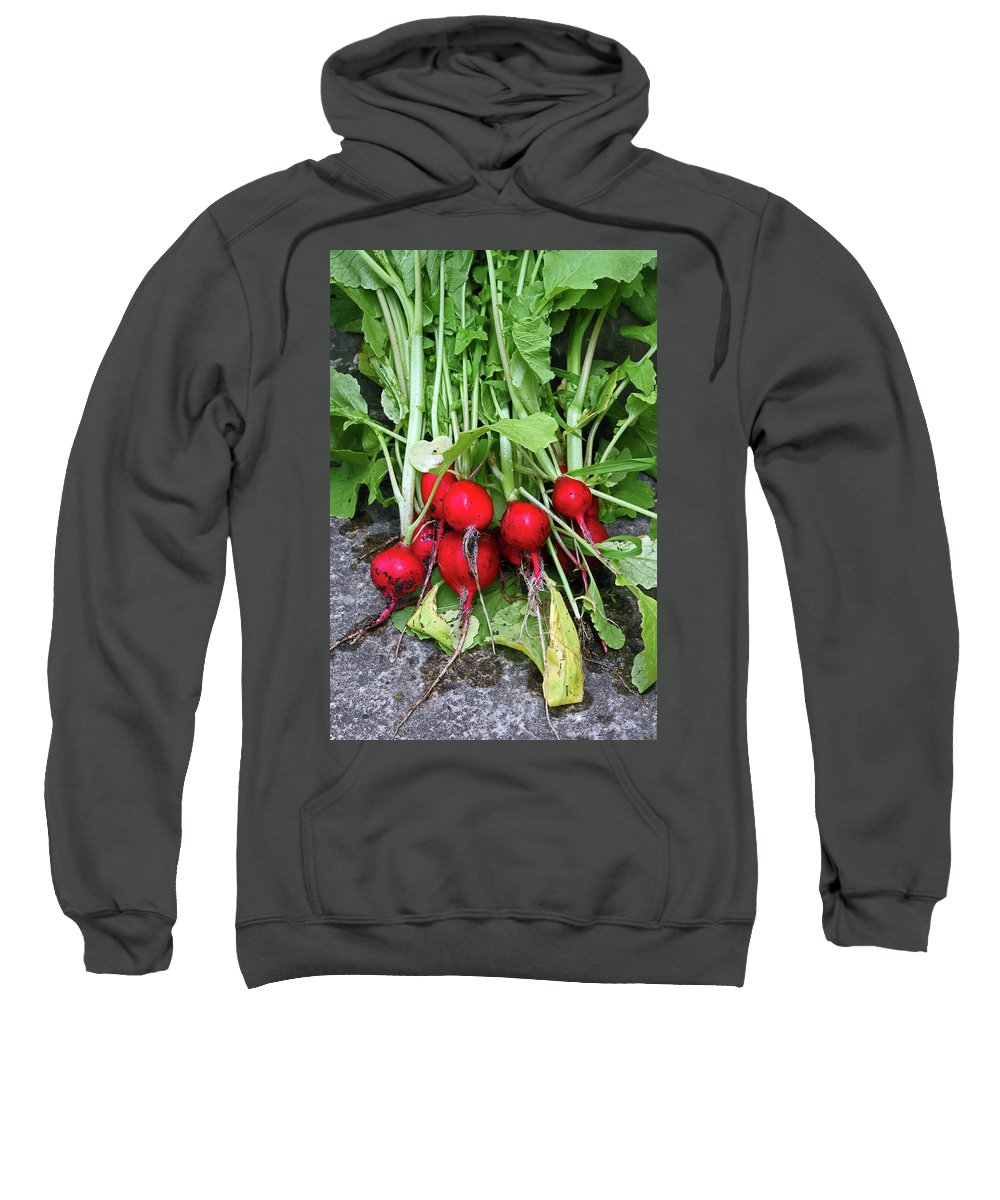 Radishes Sweatshirt featuring the photograph Radish Harvest by Ira Marcus
