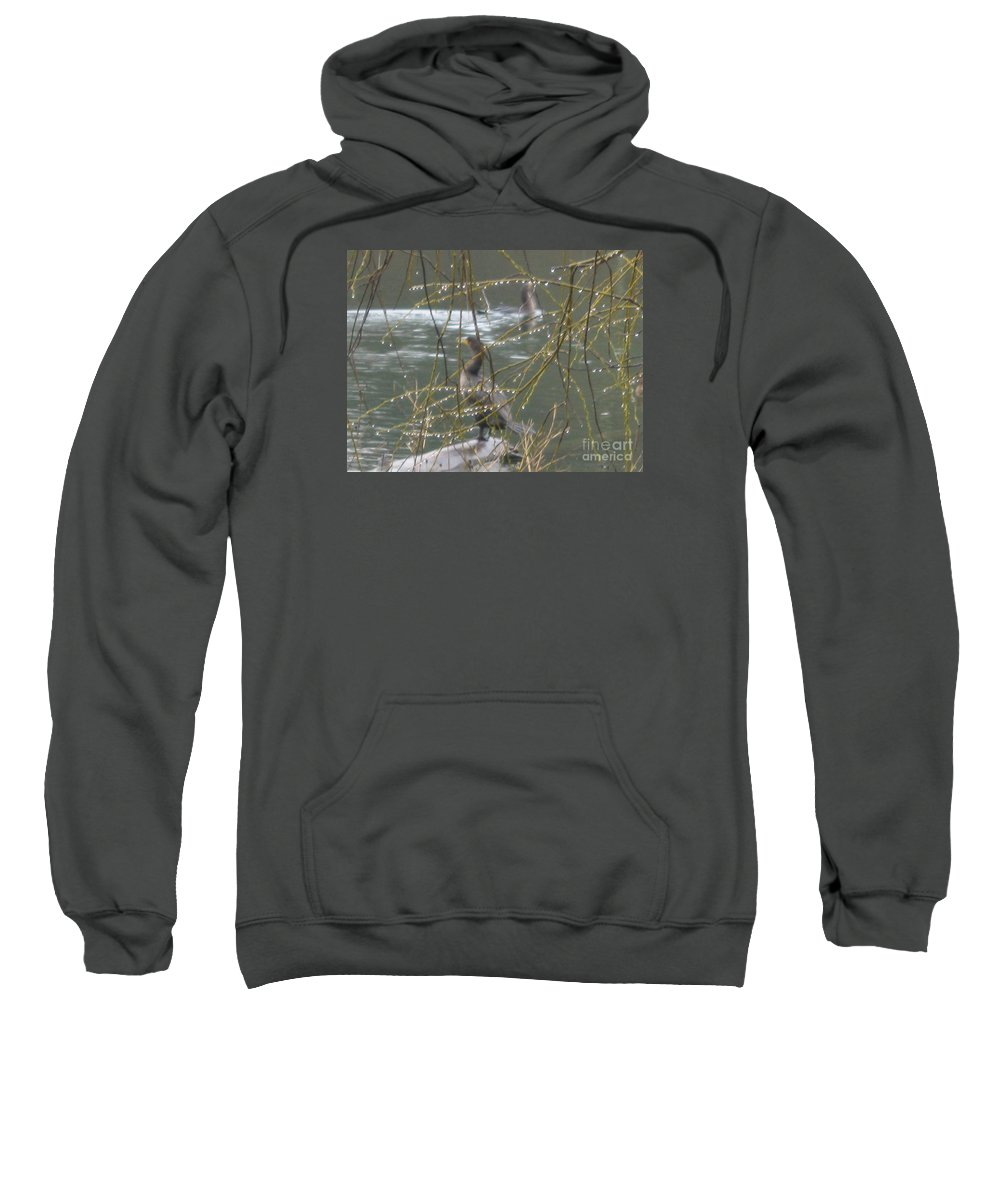 Wildlife Sweatshirt featuring the photograph Rain Droplets by John Huntsman