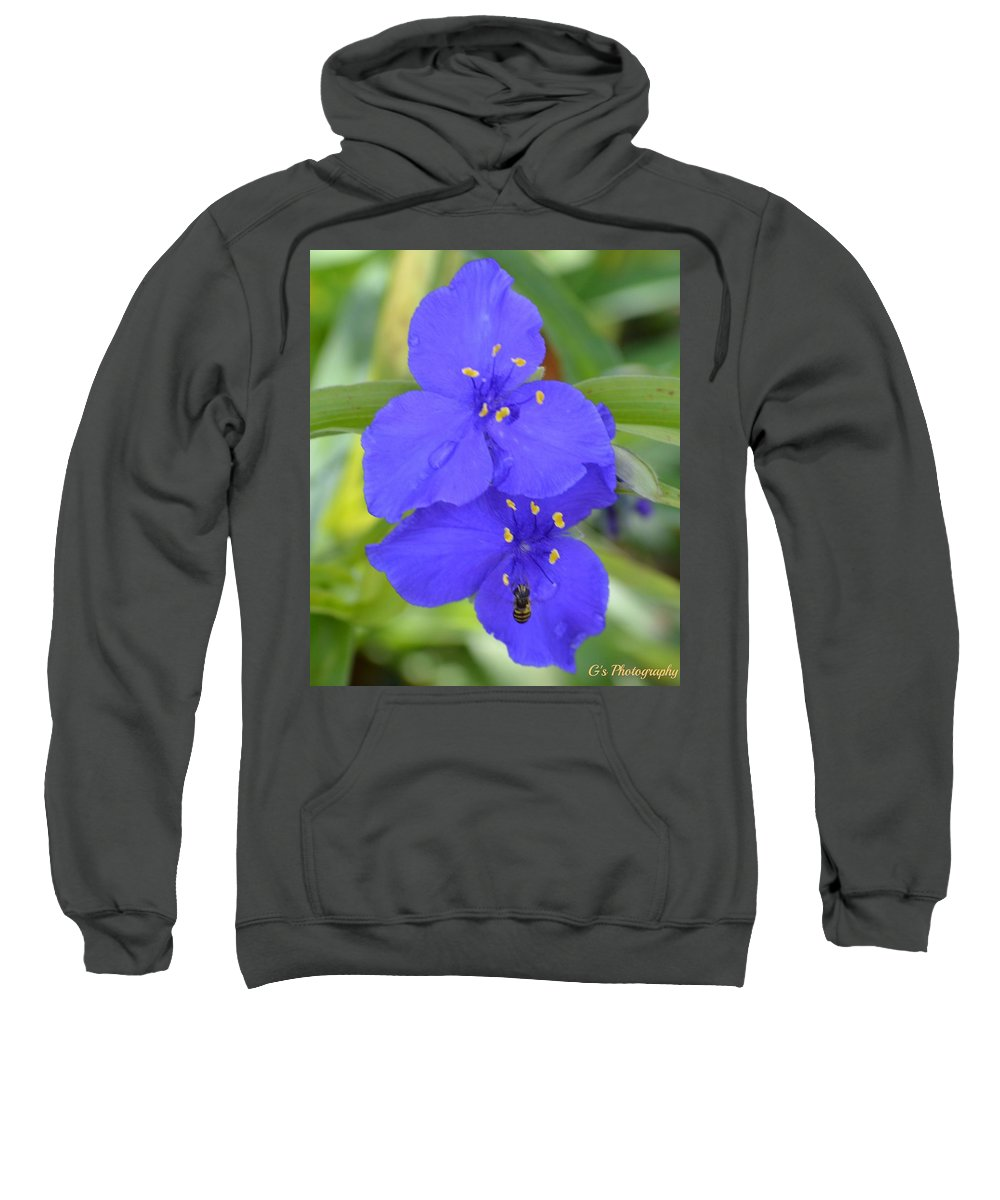Floral Sweatshirt featuring the photograph Rain Kissed by Laurie Glowacki