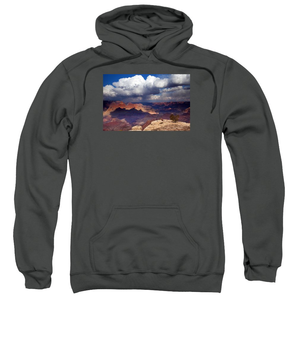 Grand Canyon Sweatshirt featuring the photograph Rain Over The Grand Canyon by Mike Dawson