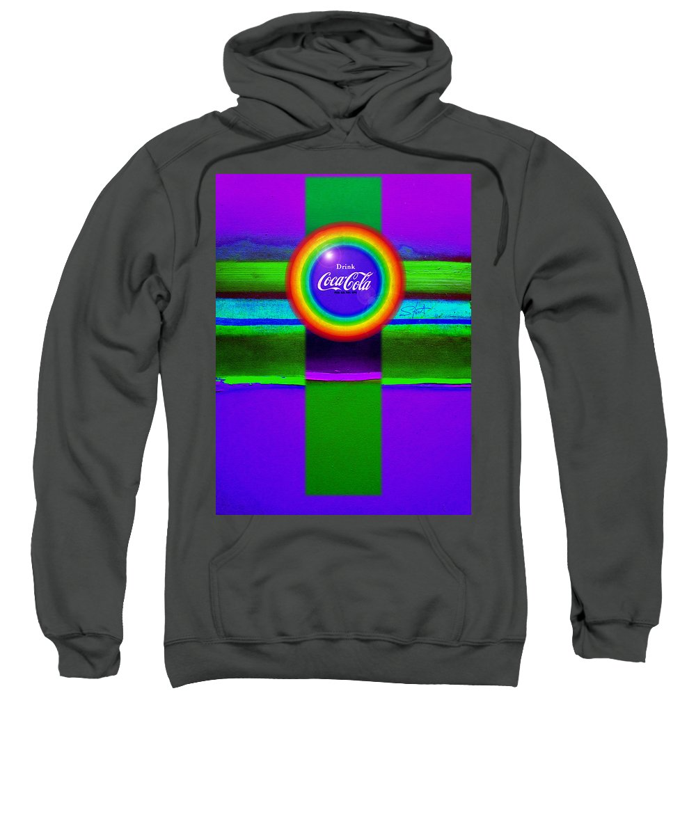 Violet Sweatshirt featuring the painting Rainbow by Charles Stuart
