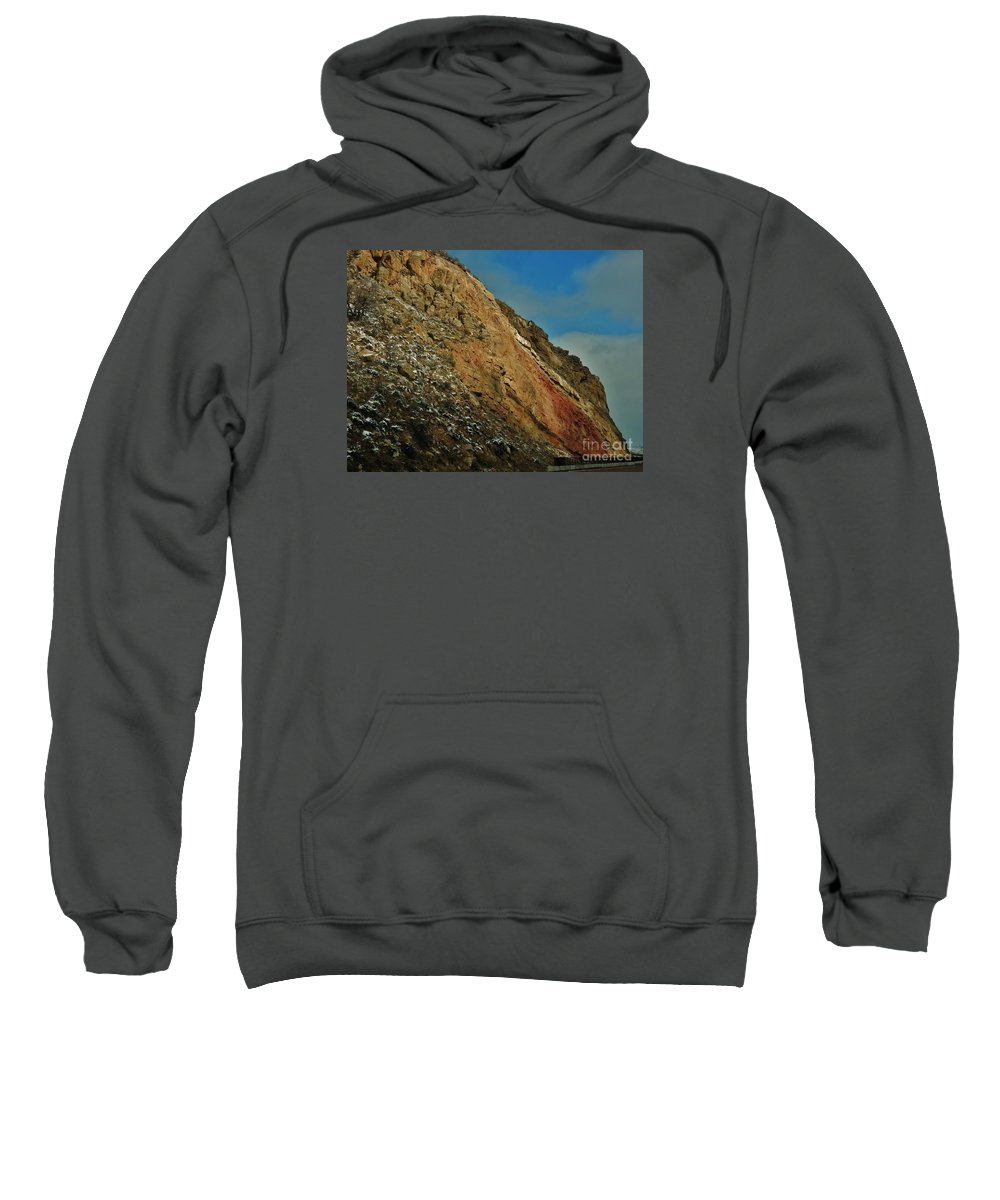 Snow Sweatshirt featuring the photograph Rainbow In The Rocks by CL Redding