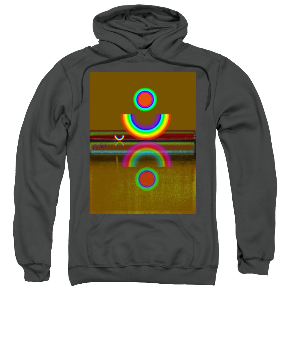 Reflections Sweatshirt featuring the painting Rainbow Warrior by Charles Stuart