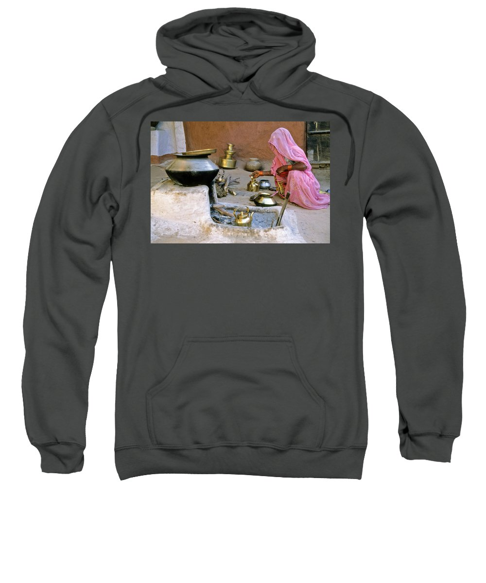 India Sweatshirt featuring the photograph Rajasthani Woman by Michele Burgess