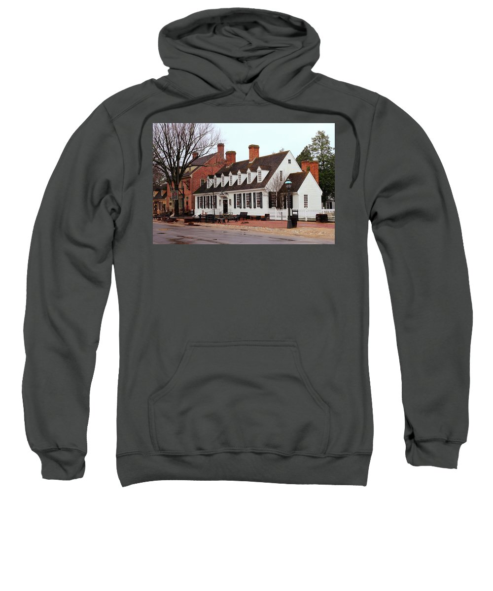 American Sweatshirt featuring the photograph Raleigh Tavern 2 by Lou Ford