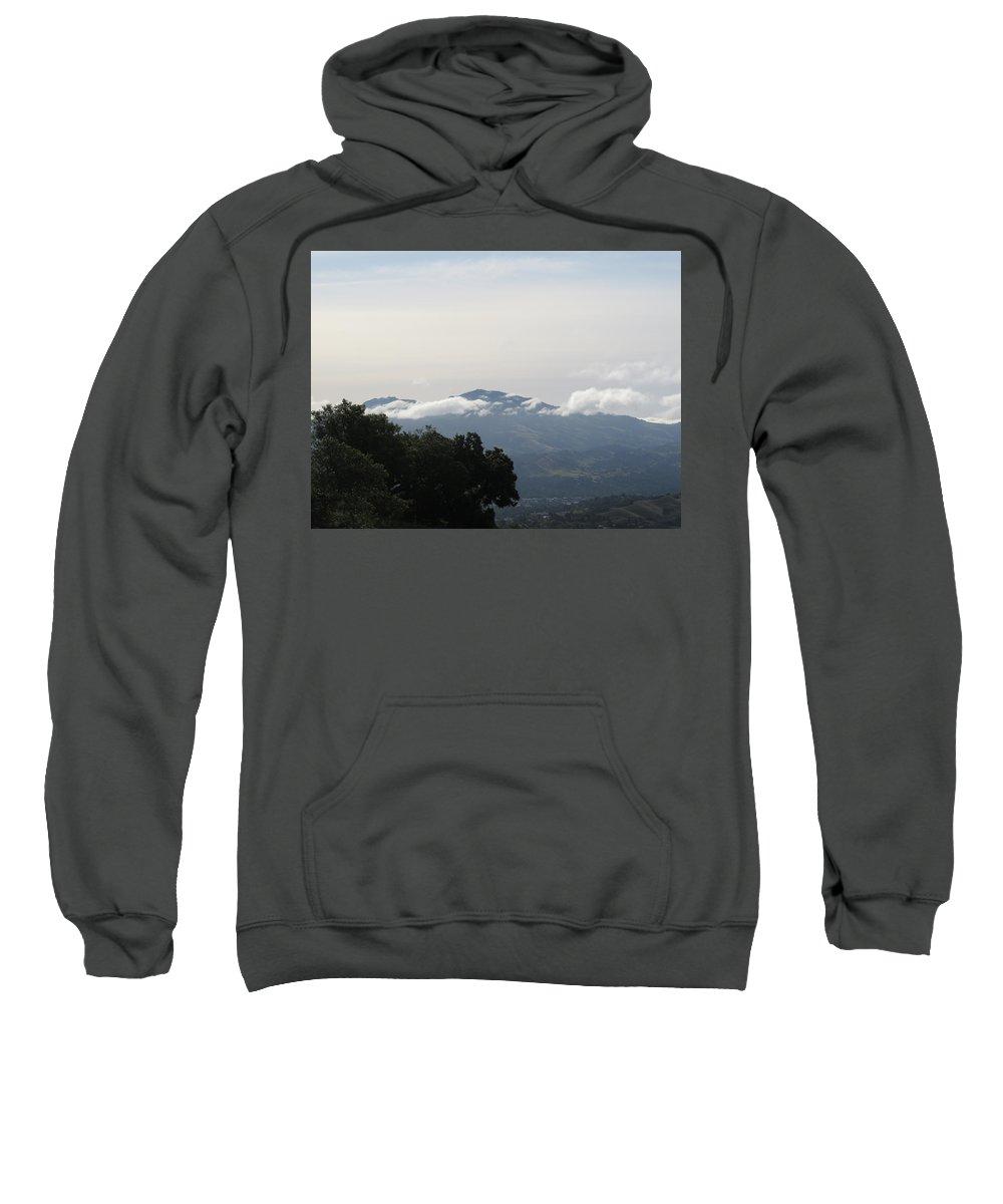 Landscape Sweatshirt featuring the photograph Random Clouds by Suzanne Leonard