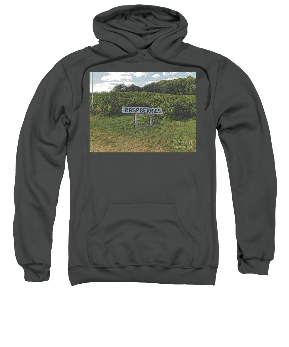 Country Sweatshirt featuring the photograph Raspberry Fields Three by September Stone