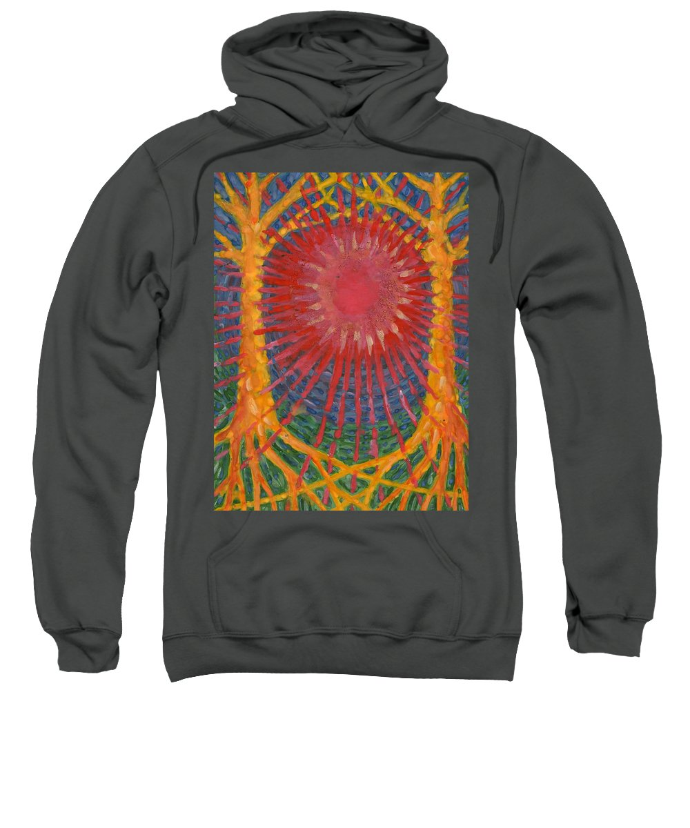 Colour Sweatshirt featuring the painting Rays Of Life by Wojtek Kowalski