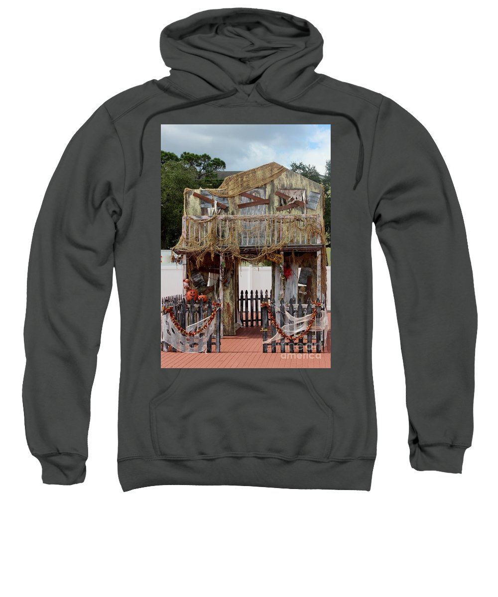 Halloween Decoration Sweatshirt featuring the photograph Ready For Halloween by Mesa Teresita