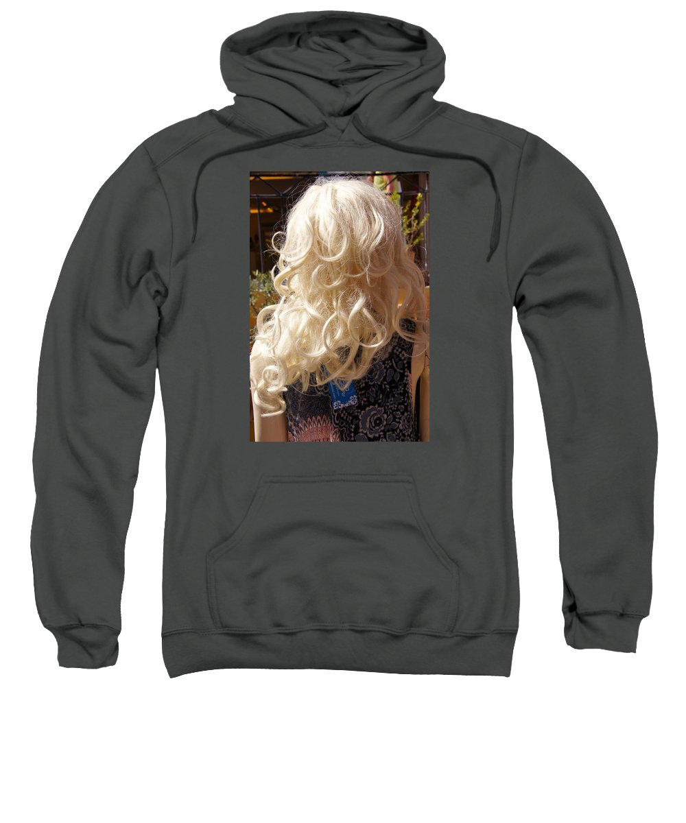 Hair Sweatshirt featuring the photograph Real Blond by Ron Koivisto