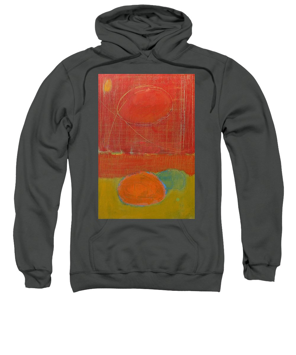 Abstract Sweatshirt featuring the painting Rebirth by Habib Ayat