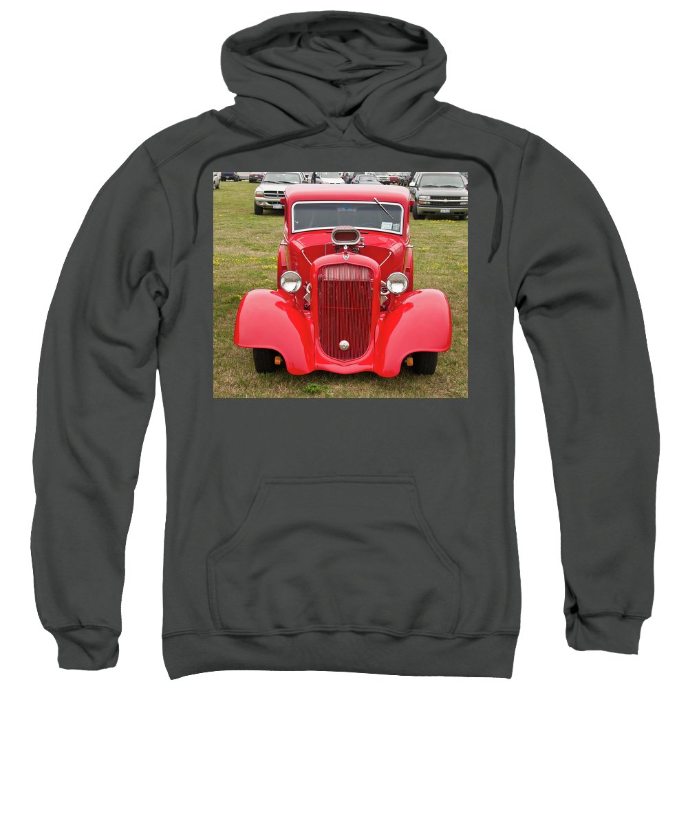 Antique Car Sweatshirt featuring the photograph Red 1990 by Guy Whiteley