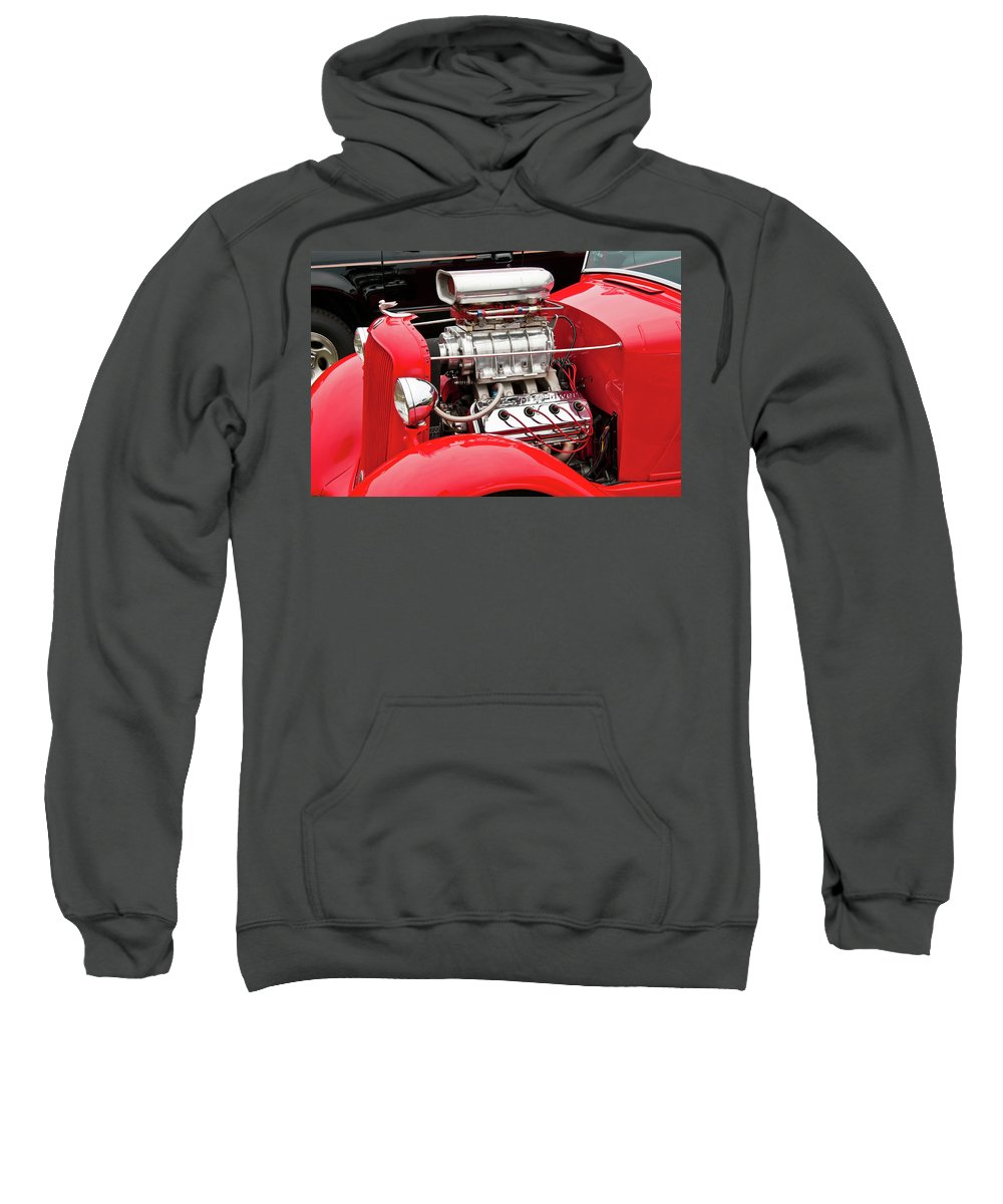 Antique Car Sweatshirt featuring the photograph Red 1992 by Guy Whiteley