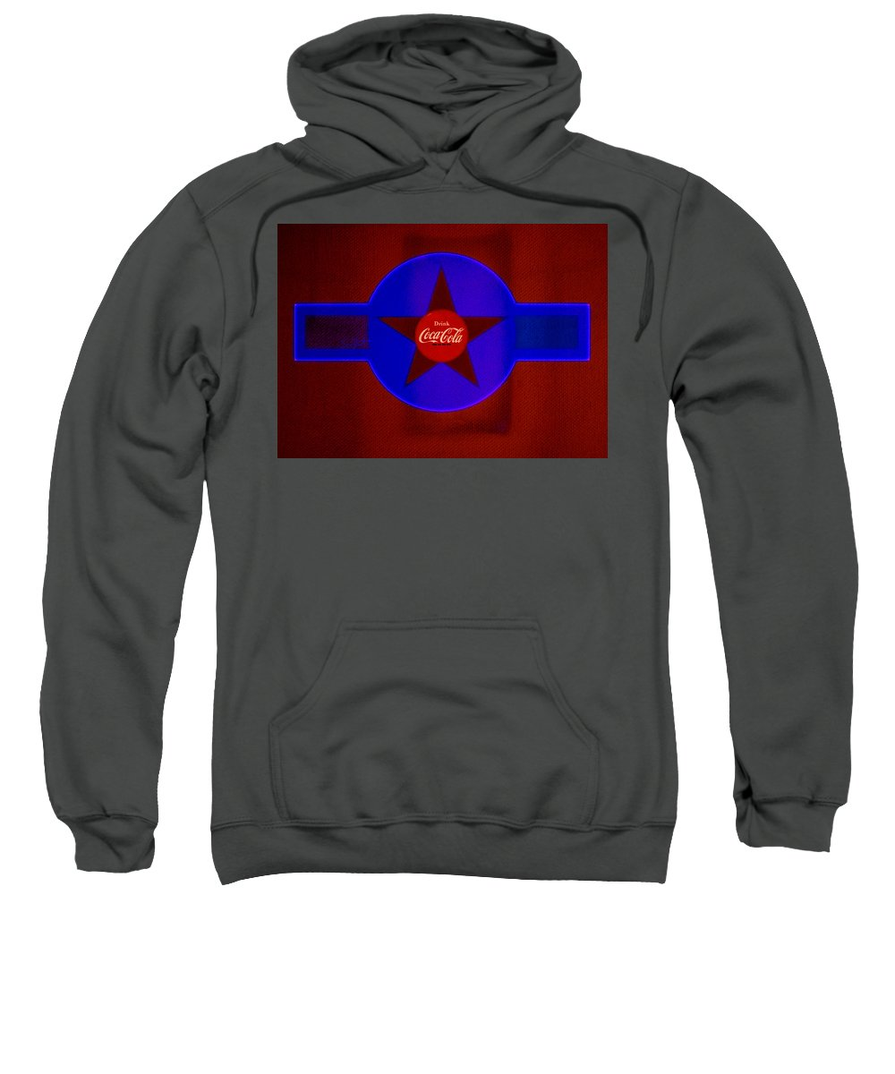 Label Sweatshirt featuring the painting Red And Blue by Charles Stuart