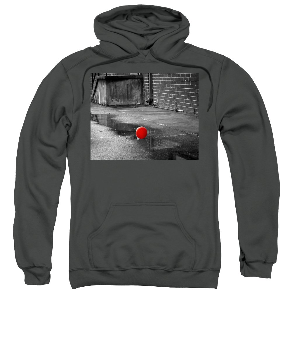 Balloon Sweatshirt featuring the photograph Red Balloon I by Gary Adkins