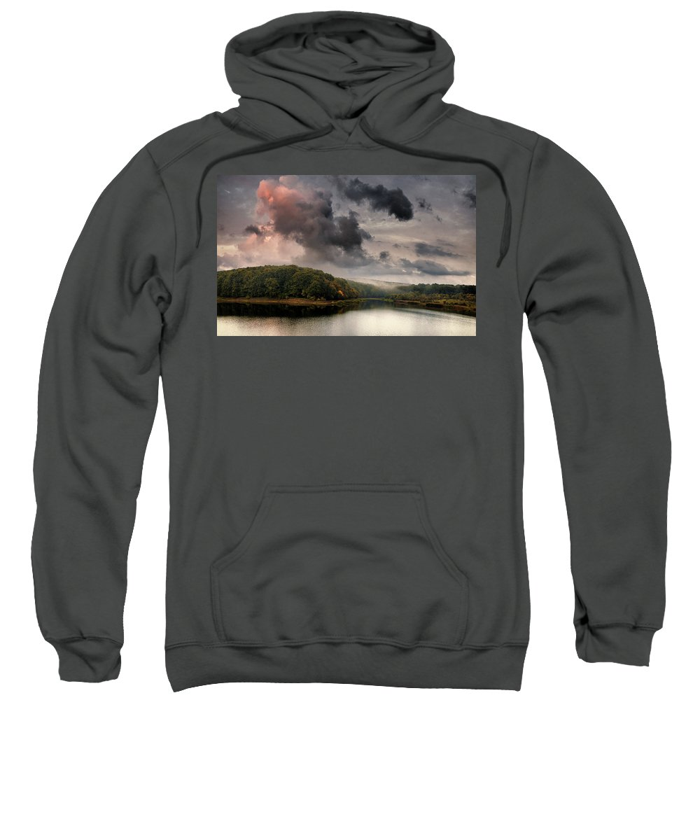 Autumn Sweatshirt featuring the photograph Red Cloud by Socaciu Marcel