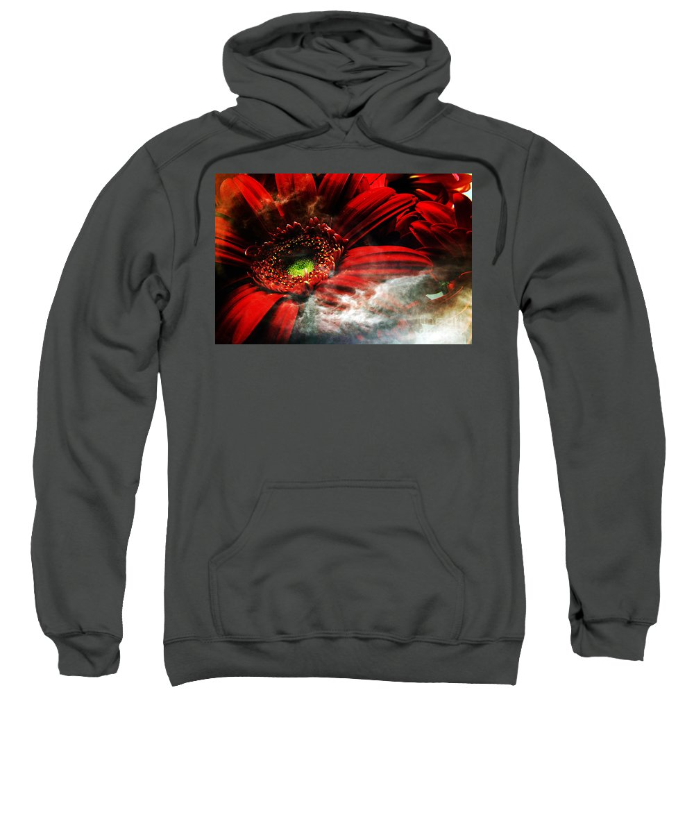 Clay Sweatshirt featuring the photograph Red Clouds by Clayton Bruster