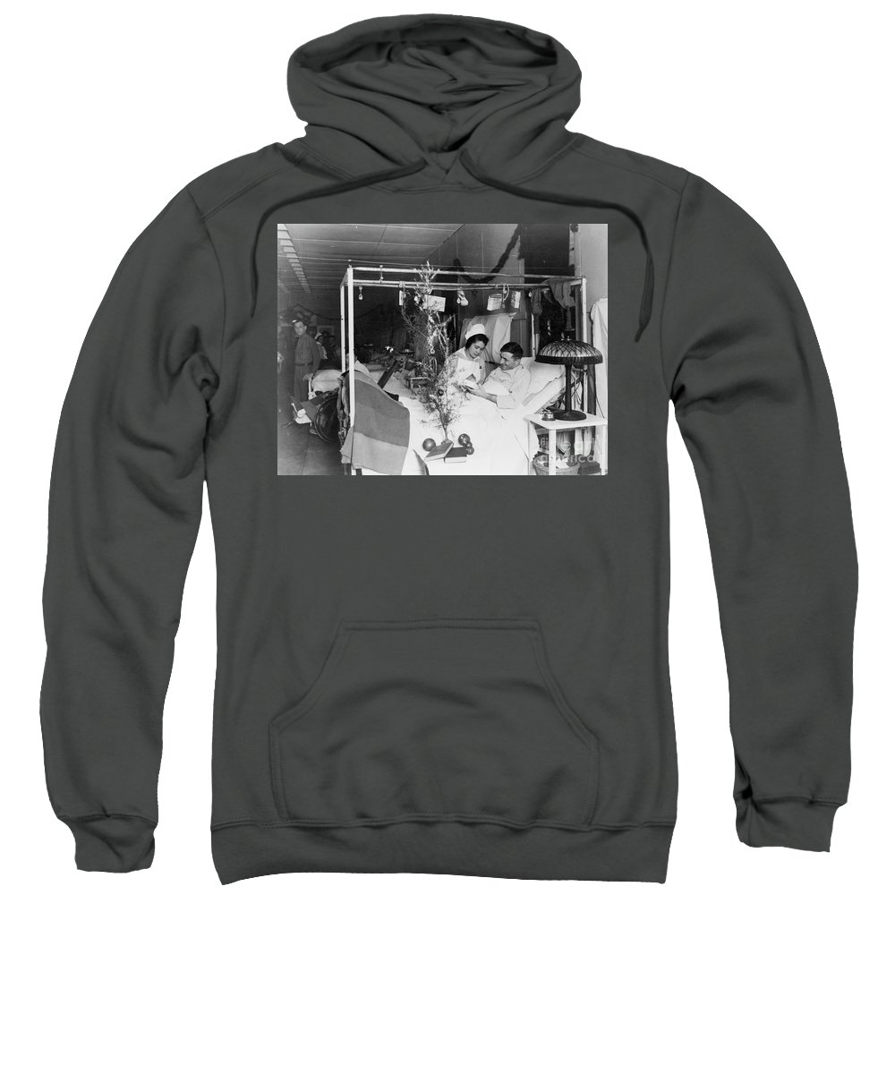 1915 Sweatshirt featuring the photograph Red Cross: Christmas by Granger