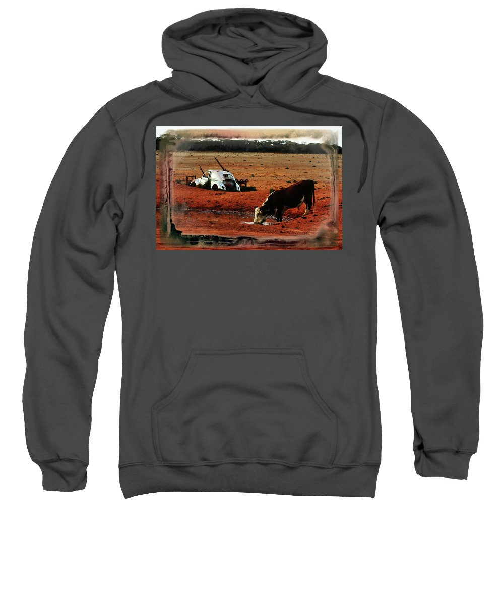 Bull Sweatshirt featuring the photograph Red Day by Douglas Barnard